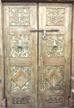 Colonial Carved Doors from a Merchant&#39;s Haveli, Gujarat <b>SOLD<b>